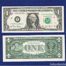 Billetes extranjeros: ESTADOS UNIDOS-USA : 1 DÓLAR 2003 ( F.ATLANTA,GA ) SC.UNC. PK. 515. PREFIX J. Lote 270243373