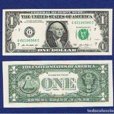 Billetes extranjeros: ESTADOS UNIDOS-USA : 1 DÓLAR 2013 ( G.CHICAGO.IL. ) SC.UNC. PK. 537. PREFIX C. Lote 270245368
