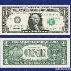 Billetes extranjeros: ESTADOS UNIDOS-USA : 1 DÓLAR 2013 ( K. DALLAS. TX.) SC.UNC. PK. 537. PREFIX B. Lote 270245058