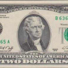 Billetes extranjeros: BILLETES - ESTADOS UNIDOS - 2 DOLLARS 1976 - SERIE B 63630465 A - PICK-461 - (SC). Lote 248263620