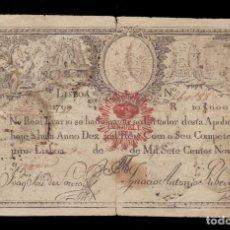 Billetes extranjeros: PORTUGAL - 10.000 REIS DE 1798-1799. Lote 248621140