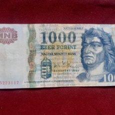 Banconote internazionali: HUNGRÍA. 1000 FORINT 2006. Lote 250246620