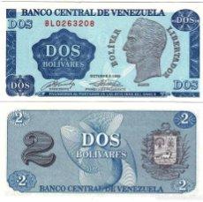 Billetes extranjeros: VENEZUELA 2 BOLIVARES 1989 UNC (LEER CONDICIONES DE VENTA EN DESCRIPCION). Lote 261998045
