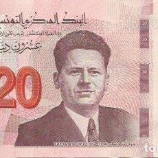 Billets internationaux: 20 DINARS - TUNISIA - 2017 - S/C - FOTOS. Lote 251046195