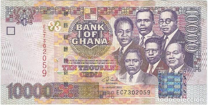 GHANA 10.000 CEDIS 4-8-2003 PK 35B (Numismática - Notafilia - Billetes Internacionales)