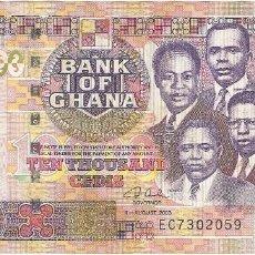 Billetes extranjeros: GHANA 10.000 CEDIS 4-8-2003 PK 35B. Lote 251711730