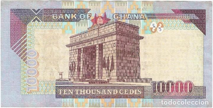Billetes extranjeros: Ghana 10.000 cedis 4-8-2003 pk 35b - Foto 2 - 251711730