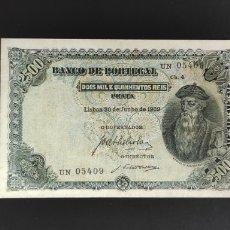 Billetes extranjeros: PORTUGAL 2500 REIS 1909. Lote 252017645