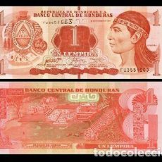 Billets internationaux: HONDURAS - 1 LEMPIRA DE 2016 - SIN CIRCULAR. Lote 252303385