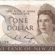 Billetes extranjeros: NUEVA ZELANDA - NEW ZEALAND 1 DOLLAR 1975 PK 163C. Lote 252847940