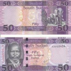 Billets internationaux: SOUTH SUDAN 50 POUNDS 2017 P 14C UNC. Lote 252902520