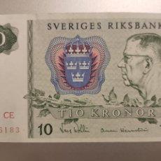 Billetes extranjeros: SUECIA. BILLETE DE 10 CORONAS 1981. EBC. Lote 253040935