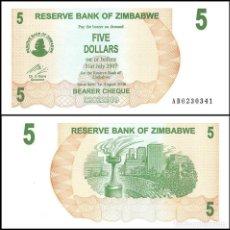 Billets internationaux: ZIMBABWE - 5 DOLARES DE 2006 - SIN CIRCULAR. Lote 286314978