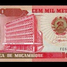 Billetes extranjeros: MOZAMBIQUE 100000 METICAIS 1993 PICK 139 SC UNC. Lote 270394713