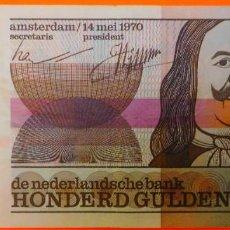 Billetes extranjeros: HOLANDA, 100 GULDEN. (64). Lote 253558875