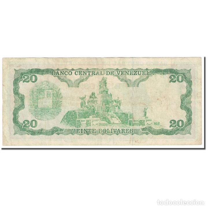 Billetes extranjeros: Billete, 20 Bolivares, 1984, Venezuela, 1984-09-25, KM:64, BC - Foto 2 - 253560090