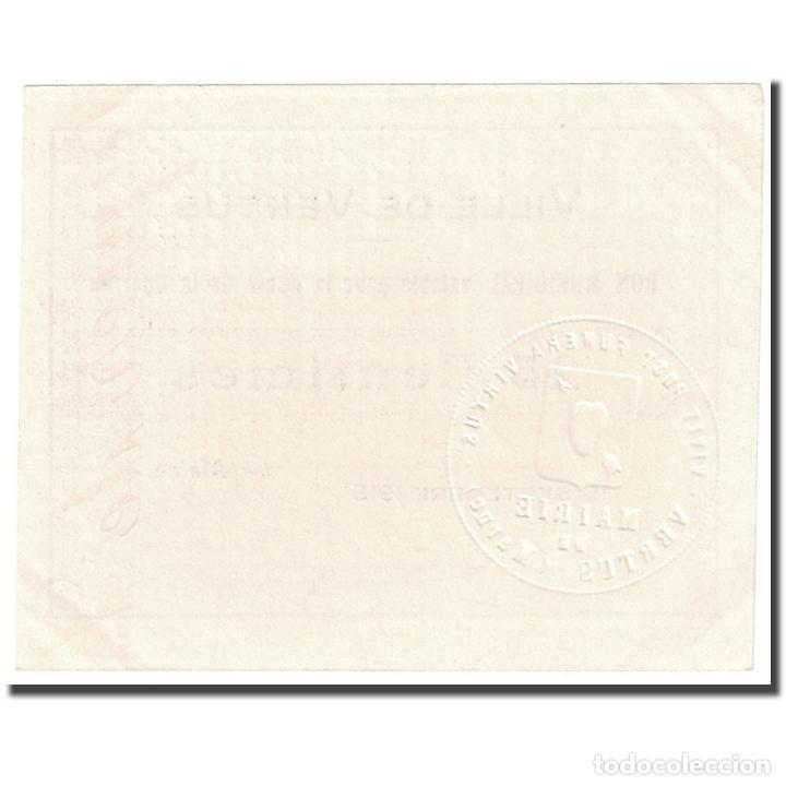 Billetes extranjeros: Francia, Vertus, 25 Centimes, 1915, Bon Municipal., SC, Pirot:51-50 - Foto 2 - 253560405