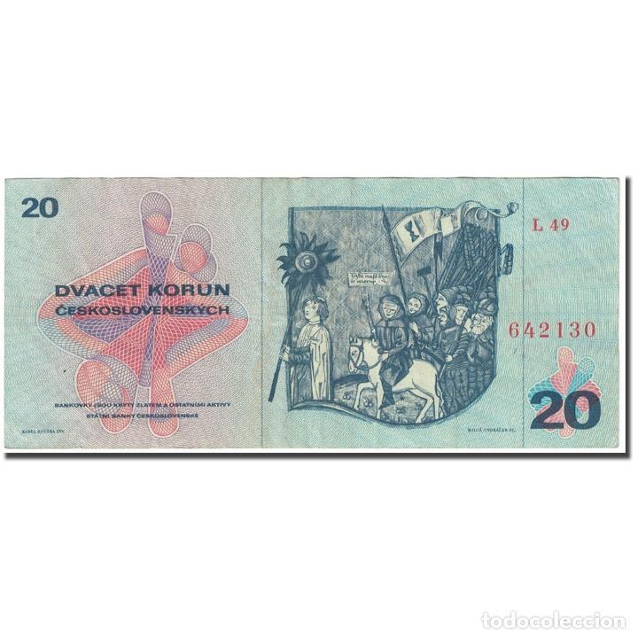 Billetes extranjeros: Billete, 20 Korun, 1970 (1971), Checoslovaquia, Undated (1970-1971), KM:92, BC - Foto 2 - 253560420