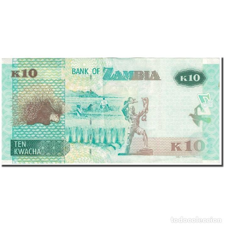 Billetes extranjeros: Billete, 10 Kwacha, 2012, Zambia, Undated (2012), KM:51, EBC - Foto 2 - 253560725