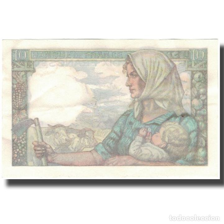 Billetes extranjeros: Francia, 10 Francs, Mineur, 1946, 1946-09-26, MBC+, Fayette:8.15, KM:99e - Foto 2 - 253561065