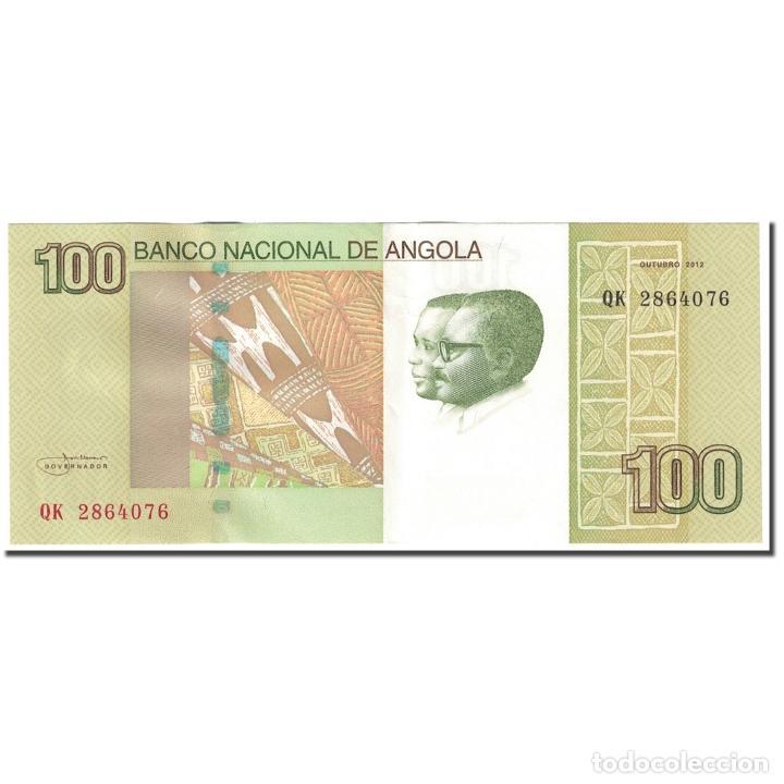 BILLETE, 100 KWANZAS, 2012, ANGOLA, OCTOBRE 2012, KM:153, EBC (Numismática - Notafilia - Billetes Internacionales)