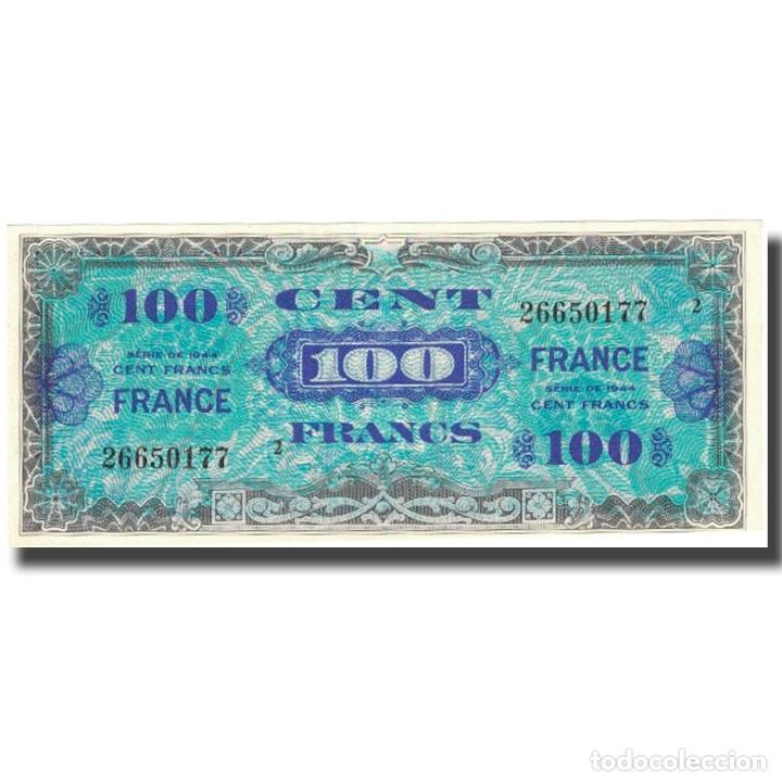 FRANCIA, 100 FRANCS, 1945 VERSO FRANCE, 1944, 1944, SC+, FAYETTE:VF25.1, KM:123B (Numismática - Notafilia - Billetes Internacionales)