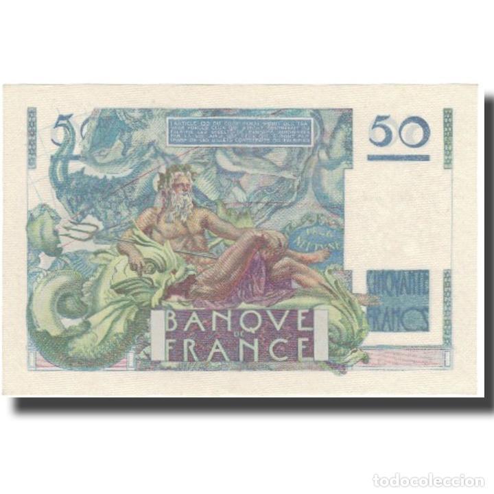 Billetes extranjeros: Francia, 50 Francs, Le Verrier, 1946, 1946-05-16, SC+, Fayette:20.4, KM:127b - Foto 2 - 253561335