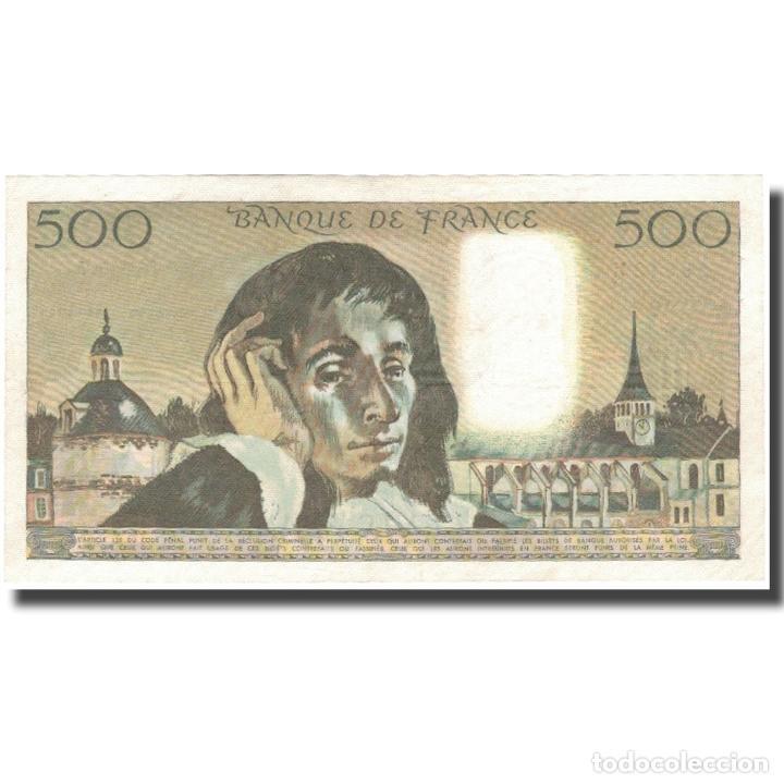Billetes extranjeros: Francia, 500 Francs, Pascal, 1968, 1968-12-05, SC, Fayette:71.2, KM:156a - Foto 2 - 253561350