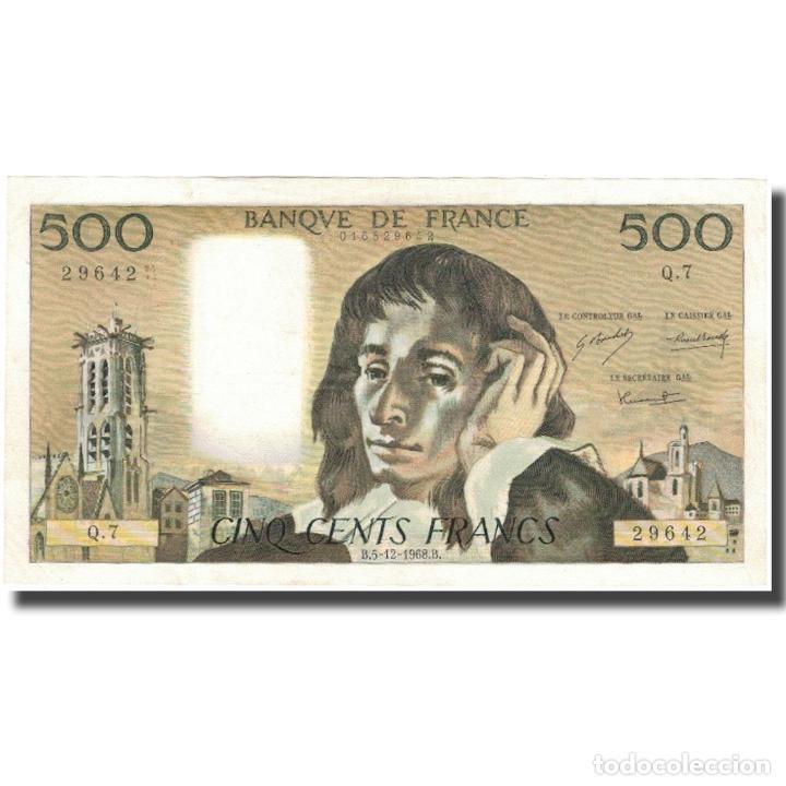 FRANCIA, 500 FRANCS, PASCAL, 1968, 1968-12-05, SC, FAYETTE:71.2, KM:156A (Numismática - Notafilia - Billetes Internacionales)