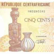 Billetes extranjeros: REPÚBLICA CENTROAFRICANA 500 FRANCS 1-1-1991 PK 14D SIN CIRCULAR. Lote 254056320