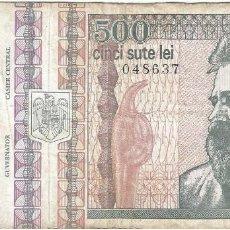 Billetes extranjeros: RUMANÍA 500 LEI 1992 PK 101A. Lote 254057385