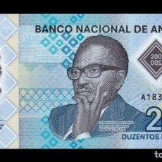 Billetes extranjeros: ANGOLA 200 KWANZAS 2020 PICK NUEVO POLÍMERO SC UNC. Lote 295868683