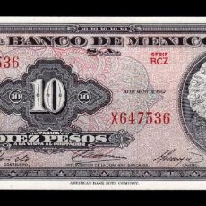 Billetes extranjeros: MÉXICO 10 PESOS 1967 PICK 58L SERIE BCZ SC UNC. Lote 254675960
