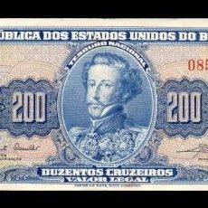 Billetes extranjeros: BRASIL 200 CRUZEIROS (1961-1964) PICK 171A MBC+ VF+. Lote 254730195