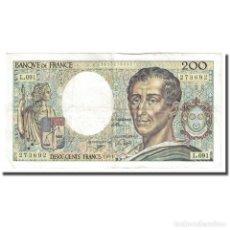 Billetes extranjeros: FRANCIA, 200 FRANCS, MONTESQUIEU, 1991, MBC+, FAYETTE:70.11, KM:155D. Lote 254769655