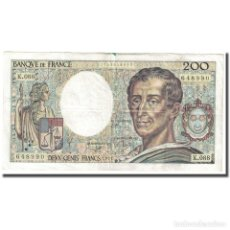 Billetes extranjeros: FRANCIA, 200 FRANCS, MONTESQUIEU, 1991, MBC, FAYETTE:70.11, KM:155D. Lote 254769665