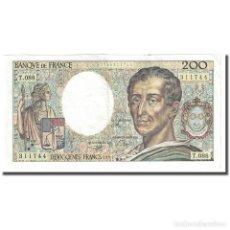 Billetes extranjeros: FRANCIA, 200 FRANCS, MONTESQUIEU, 1991, EBC, FAYETTE:70.11, KM:155D. Lote 254771400