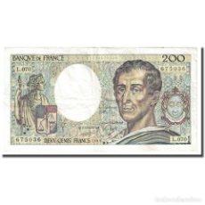 Billetes extranjeros: FRANCIA, 200 FRANCS, MONTESQUIEU, 1989, MBC+, FAYETTE:70.9, KM:155C. Lote 254771880