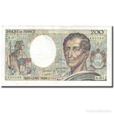 Billetes extranjeros: FRANCIA, 200 FRANCS, MONTESQUIEU, 1989, EBC, FAYETTE:70.9, KM:155C. Lote 254773645