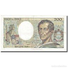 Billetes extranjeros: FRANCIA, 200 FRANCS, MONTESQUIEU, 1990, MBC, FAYETTE:70.08, KM:155C. Lote 254783955