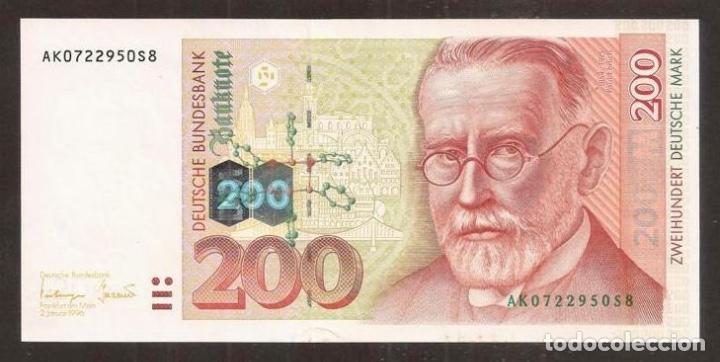 ALEMANIA FEDERAL. 200 DEUTSCHE MARK 2.1.1996. PICK 47. S/C (Numismática - Notafilia - Billetes Internacionales)