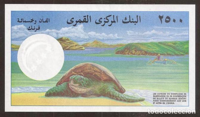 Billetes extranjeros: COMORES. Precioso 2500 francs (1997). Pick 13. S/C. - Foto 2 - 254793715