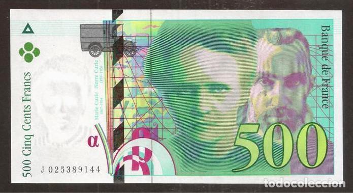 FRANCIA. 500 FRANCS 1994. PICK 160 A. S/C (Numismática - Notafilia - Billetes Internacionales)