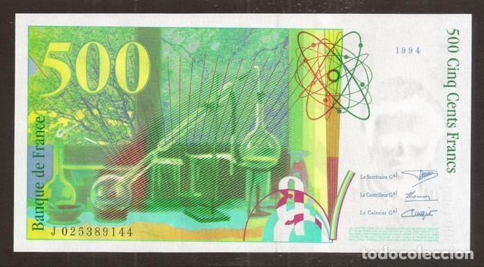 Billetes extranjeros: FRANCIA. 500 francs 1994. Pick 160 a. S/C - Foto 2 - 254793735