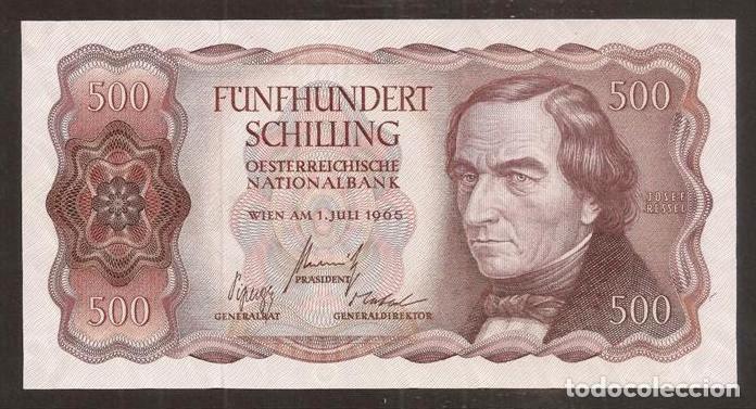 AUSTRIA. 500 SCHILLING 1.7.1965. PICK 139. S/C. (Numismática - Notafilia - Billetes Internacionales)