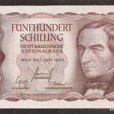 Billetes extranjeros: AUSTRIA. 500 SCHILLING 1.7.1965. PICK 139. S/C.. Lote 254798220