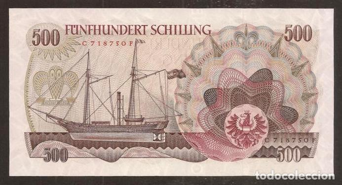 Billetes extranjeros: AUSTRIA. 500 schilling 1.7.1965. Pick 139. S/C. - Foto 2 - 254798220