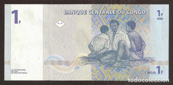 Billetes extranjeros: CONGO Rep. Dem. 1 franc 1997. Pick 85. S/C - Foto 2 - 254793760