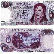 Billetes extranjeros: ARGENTINA 10 PESOS 1976 P.295 UNC (LEER CONDICIONES DE VENTA EN DESCRIPCION). Lote 254807770