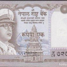 Billetes extranjeros: BILLETES - NEPAL - 1 RUPIA (1972) - PICK-16 SIG.-8 (EBC+). Lote 254807780